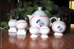 DISHing with HLCCA: HLCCA - Conference Exclusives 2003 ~ Introduction of HLCCA baseball theme items: The baseball theme  continued with baseball salt & pepper sets and bulb candleholdersoffered as HLCCA exclusives on the HLCCAweb site following the Conference