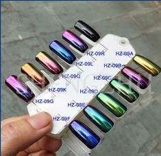Chrome nail swatches