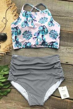 Padded Swimsuits for women at Cupshe come in all styles & sizes. Find the perfect padded swimsuit from one piece to bikinis, Shop and save on popular women swimwear & bathing suits. Summer Suits, Summer Wear, 2017 Summer, Casual Summer, Cute Swimsuits, Flattering Swimsuits, Modest Swimsuits, Cupshe Swimsuits High Waist, High Waist Bikini