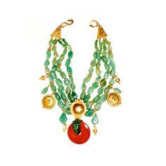 Late 1980s Loulou de la Falaise for Yves Saint Laurent rive gauche necklace.