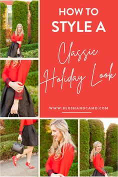 Christmas is just around the corner and this is my FAVORITE holiday. I go crazy with decorations, holiday music, and my outfits! I have 3 tips to choose the most festive outfit ever while staying oh so chic! This how to style guide will have you singing - those Christmas carols! #holidaylooks #holidayoutfits #outfitideas #christmasoutfit