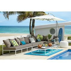 casbah outdoor sectional pieces in outdoor furniture   CB2