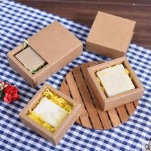 20 pcs Petit tiroir forme Artisanat Cadeau Savon À La Main Emballage Kraft Boîtes de Papier brun kraft savon emballage boîte de bonbons artisanat boîtes(China (Mainland))