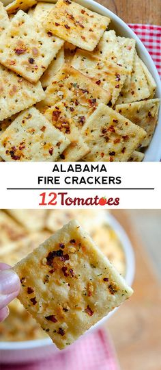 Baby shower appetizers - Alabama Fire Crackers - If you're looking for the perfect party snack, the perfect road trip snack. or just a snack you don't need any reason for at all, look no further. Sure, they're a little spicy, but you can handle it! Yummy Appetizers, Appetizers For Party, Yummy Snacks, Appetizer Recipes, Snack Recipes, Cooking Recipes, Yummy Food, Shower Appetizers, Vegan Snacks