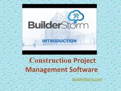 Introduction of Construction Project Management Software