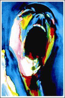 "Pink Floyd ""Screaming Face"" Black Light Poster"