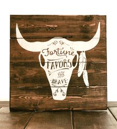 Favors The Brave Wood Art by Pixels & Wood on Scoutmob Shoppe