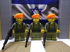 3x LEGO Israeli IDF Soldiers (Orange Berets)