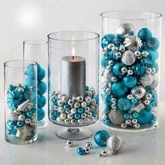 Decoratiuni in nuantele iernii – 21 de idei de ornamente din globuri Nuantele iernii transpuse in aceste decoratiuni delicate din globuri – 21 idei de ornamente pentru a ne decora casa de sarbatori http://ideipentrucasa.ro/decoratiuni-nuantele-iernii-21-de-idei-de-ornamente-din-globuri/