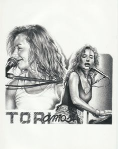 TORI AMOS LIVE ORIGINAL SKETCH PRINTS - POSTER SIZE - BLACK & WHITE - FEATURES TORI AMOS PORTRAIT. PRINT OF HIGHLY-DETAILED, HANDMADE DRAWING BY ARTIST MIKE DURAN  http://citymoonart.com/tori-amos-live-original-sketch-prints-poster-size-black-white-features-tori-amos-portrait-print-of-highly-detailed-handmade-drawing-by-artist-mike-duran/