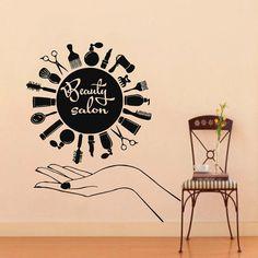 Wall Decal Vinyl Sticker Beauty Hairdress Salon by VinylDecals2U