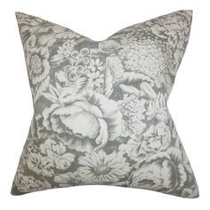 Chase Pillow.  A perfect addition to your master suite or sofa, this chic cotton pillow showcases a charming floral motif and down fill. Made in Boston, MA.