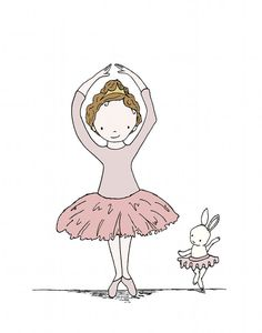 Hey, I found this really awesome Etsy listing at http://www.etsy.com/listing/161747586/bunny-art-ballerina-buddies-girl-nursery