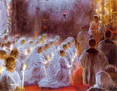 Ferdynand Ruszczyc - Pierwsza komunia, 1899