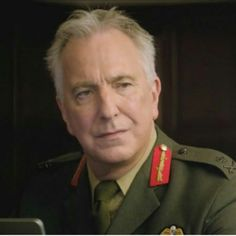 "Alan Rickman in Eye in the Sky.  Best delivery of one of his final lines in true Rickman style: ""NEVER.....tell a soldier that he does NOT know the cost of war..."""