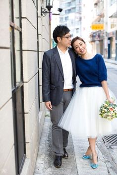 This ode to tulle: | 38 Beautifully Modern Wedding Dress Ideas