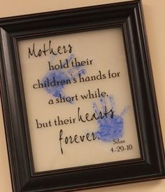 Hold their hearts and many more infant handprint gift ideas