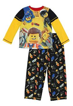 92f664821b LEGO Movie Boys Poly Top with Flannel Pants Pajamas (10-1.