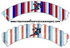 Making My Party!: Captain America - Complete Kit with frames for invitations, labels for goodies, souvenirs and pictures!