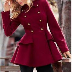 Peacoat peplum jacket
