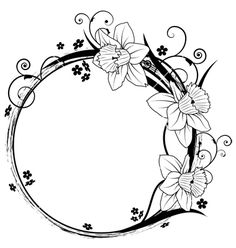 Free frame with flowers vector