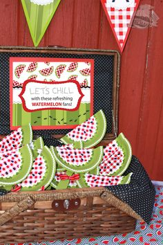 Watermelon Fans made with paper plates