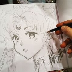 Conhon entry i dit with pencils at lbm/mcc. It's Black Lady from sailor Moon…