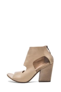 Marsell Cut Out Leather Booties in Light Taupe   FWRD [1]