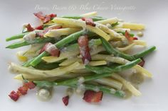 Green Beans, Bacon & Blue Cheese Vinaigrette by The Culinary Chase