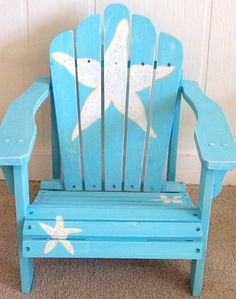 Painted Adirondack Chair by Gone Coastal: http://www.gonecoastal.net/