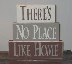 There's No Place Like Home Shelf Sitter by SignsMakeASmile on Etsy