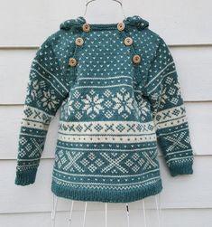 Snøhetta anorak and sweater von SiSiVeAS auf Etsy Knitting For Kids, Baby Knitting, Crochet Baby, Knit Crochet, Wooly Bully, Norwegian Knitting, Fair Isle Knitting, Baby Sweaters, Knit Patterns
