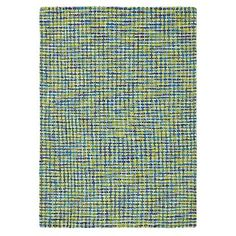 Tweedy Rugs in Blue (Solid Pattern, Rug Sample) | Handmade Area Rugs from Company C Love these colors with the bedding@! @Company C  #DreamInColor