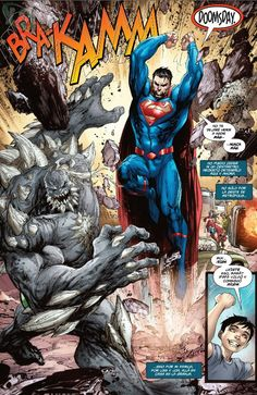 DC Comics' Rebirth Puts Superman's Family in Doomsday's Path - DC Comics' Rebirth Puts Superman's Family in Doomsday's Path Héros Dc Comics, Action Comics 1, Dc Comics Characters, Superman Family, Superman Man Of Steel, Batman Vs Superman, Superman Doomsday, Young Justice, Comic Books Art