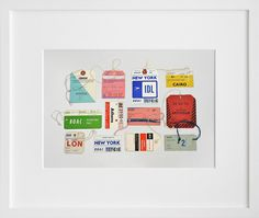 from Oh Happy Day -Lisa Congdon's work is awesome. I want this print of vintage airline tags.