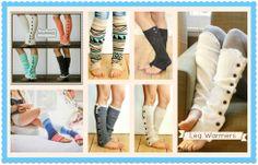 Leg Warmers and Boot socks from NanaMacs Boutique www.nanamacs.com/fancy-socks