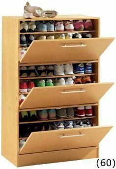 Neutral shoe cabinet diy plans tips for 2019 - Schuhschrank Diy Furniture, Furniture Design, Diy Shoe Rack, Shoe Racks, Shoe Storage Cabinet, Shoe Cabinet Design, Storage Rack, Baby Storage, Closet Designs