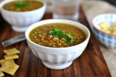 hearty lentil soup - had this for dinner and it was yummy, just added a little sweet smokey paprika and increased the amount of spices. yummm