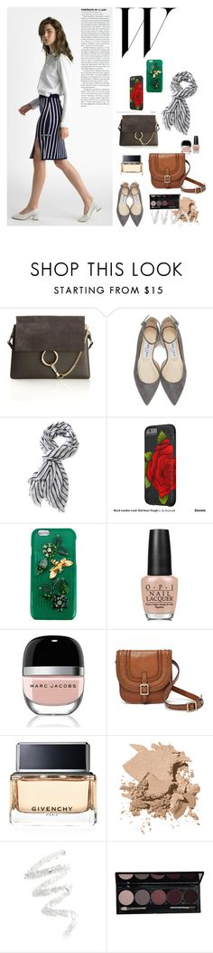 """""""Andrew Outfitter Spring/Summer 2017"""" by debbiekimm on Polyvore featuring Chloé, Jimmy Choo, L.L.Bean, Dolce&Gabbana, OPI, Marc Jacobs, FOSSIL, Givenchy, Bobbi Brown Cosmetics and Cynthia Rowley"""