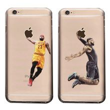 Basketball Superstars Soft Cover handy Fall für iPhone 5 5 S 6 6 S 6 Plus 6 S Plus Fall Michael Jordan LeBron James Telefon Fall(China (Mainland))