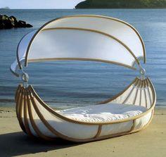 Awww! A canoe bed!