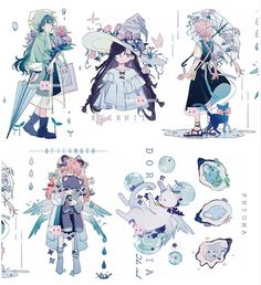 Fantasy Character Design, Character Design Inspiration, Character Concept, Character Art, Cute Art Styles, Cartoon Art Styles, Kawaii Art, Art Reference Poses, Pretty Art