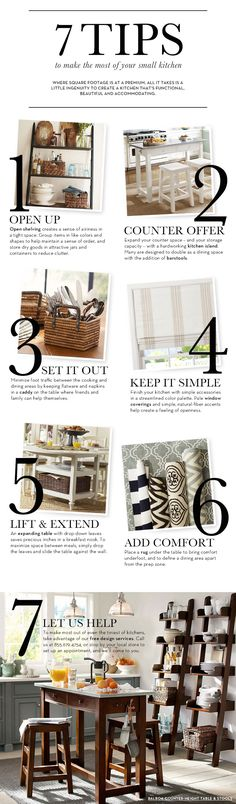 Small Kitchen Ideas & How to Decorate a Small Kitchen | Pottery Barn