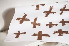 WRAPPING PAPER no.02 - cross copper Wrapping, Bed Pillows, Wraps, Copper, Pillows, Coats, Rap, Packaging, Gift Wrapping