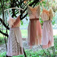 I love these shabby chic dresses!