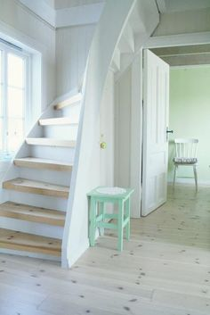 Stairs can be enhanced using a choice of railings. The stairs are downhill, providing you an accessibility to the loft. Loft bed is… Continue Reading → Small Staircase, Staircase Design, Spiral Staircase, Space Saving Staircase, Steep Staircase, Rustic Staircase, Staircase Ideas, Attic Rooms, Attic Spaces