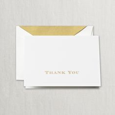 Gold Hand Engraved Thank You Notes