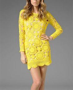 Pattern tunic long sleeve short dress summer sexy lace shirt spring top crochet pdf