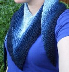 Wonderful One Row Shawl - Free knitting patterns don't get easier than this. The Wonderful One Row Shawl uses the same simple pattern over and over again. No need to count row on this loop knitting pattern. Because it is so simple, this is a great project to work on when you need to keep your fingers busy and your mind free. It's a super quick knit as well, meaning you can make it wherever and whenever you feel like it.