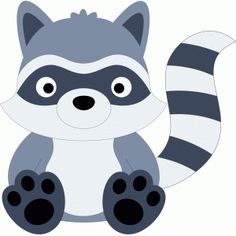 Silhouette Design Store - browse-daily-and-clearance Forest Animals, Woodland Animals, Quiet Book Templates, Felt Animal Patterns, Cute Raccoon, Silhouette Online Store, Forest Friends, Woodland Baby, Woodland Creatures